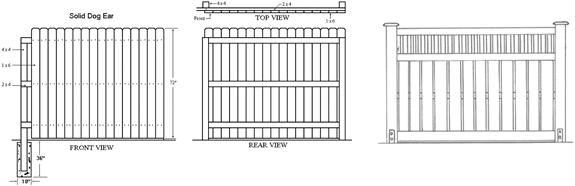 Woodwork Fence Blueprints Pdf Plans